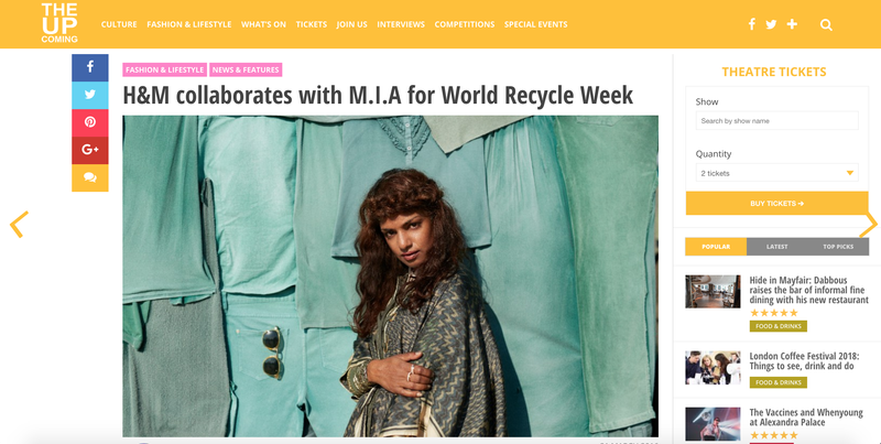 H&M collaborates with M.I.A for World Recycle Week