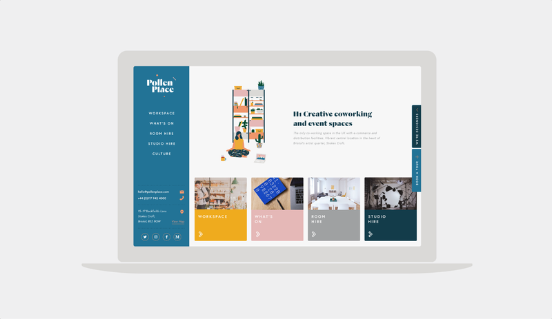 Pollen Place Workspaces and Event Space - Brand Identity & Website