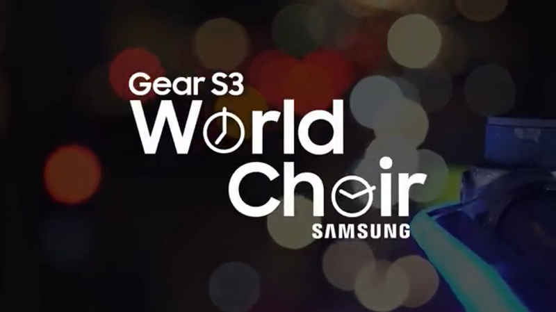 Samsung Gear S3 | World Choir Christmas Countdown in Piccadilly