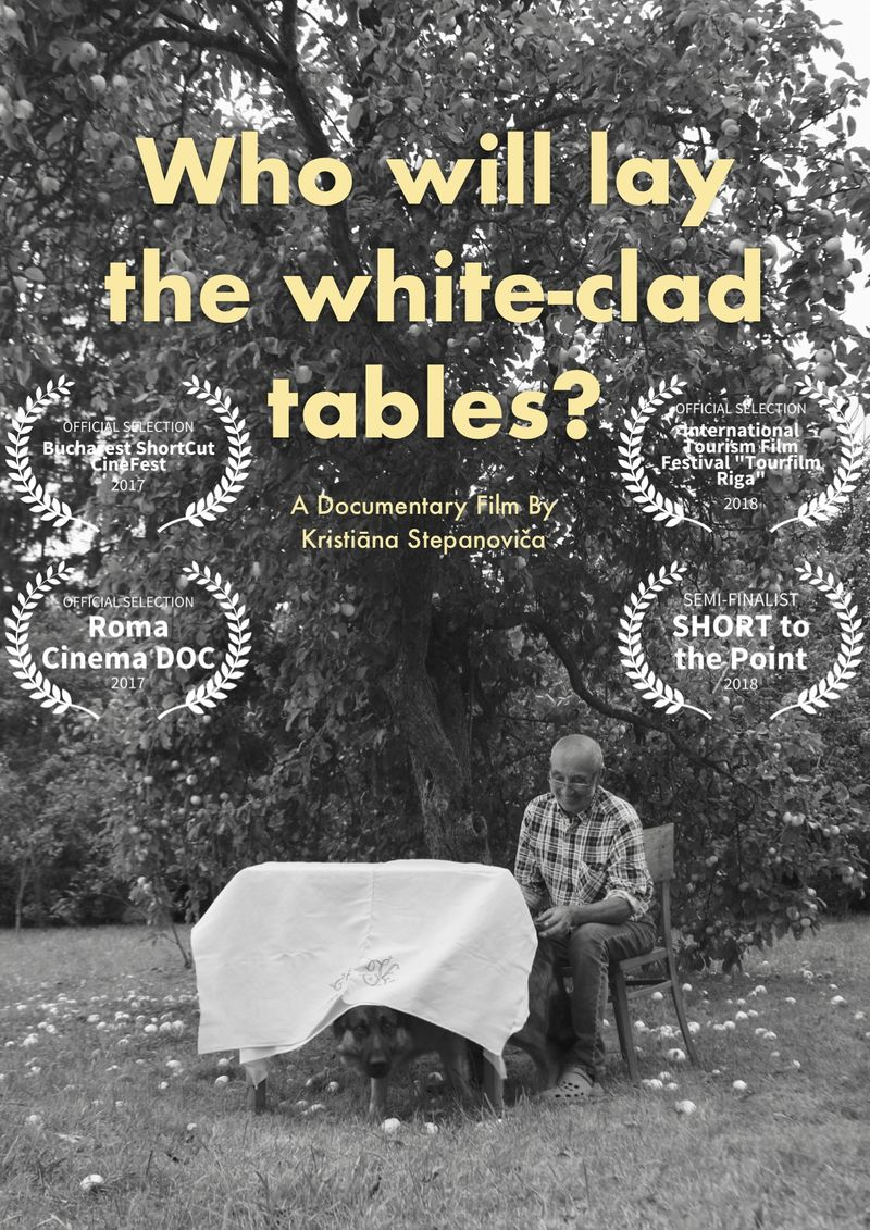 Who will lay the white-clad tables?