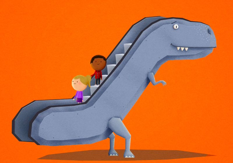 Escalatorsaurus Safety Campaign