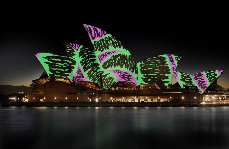Living Mural: a collaborative architectural projection at Sydney Opera House
