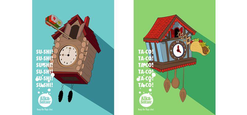 Alka Seltzer    CUCKOO-CLOCK