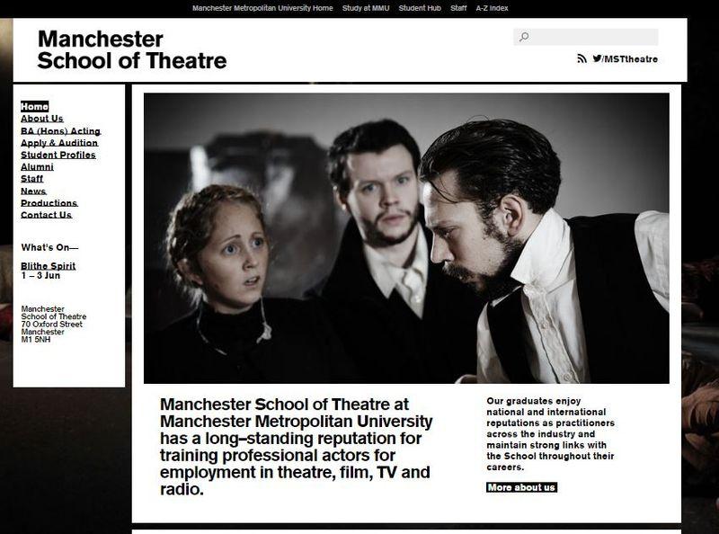 Manchester School of Theatre website copy