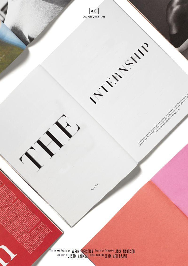 The Internship Short Film - Poster Design
