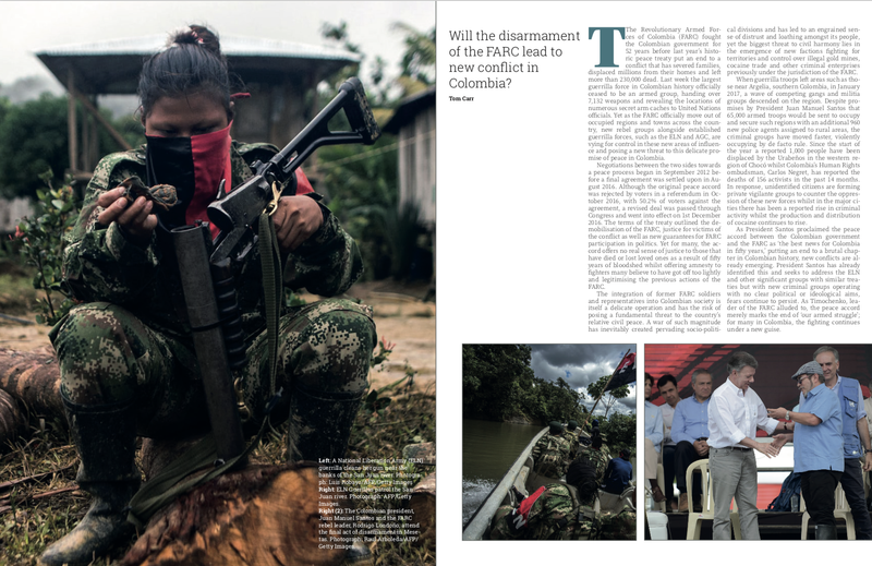 Will the disarmament of the FARC lead to new conflict in Colombia?
