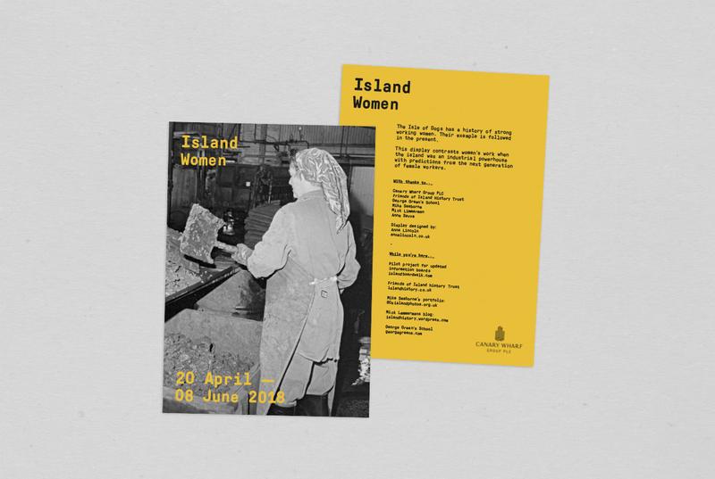Island Women installation at Canary Wharf