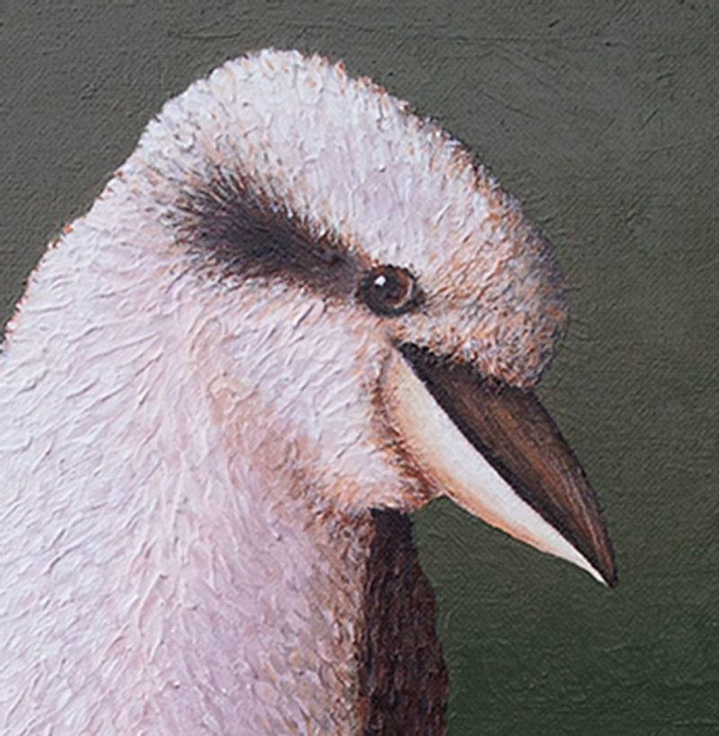 Painting of a kookaburra