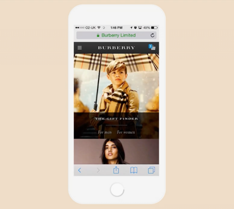 Burberry Mobile Site