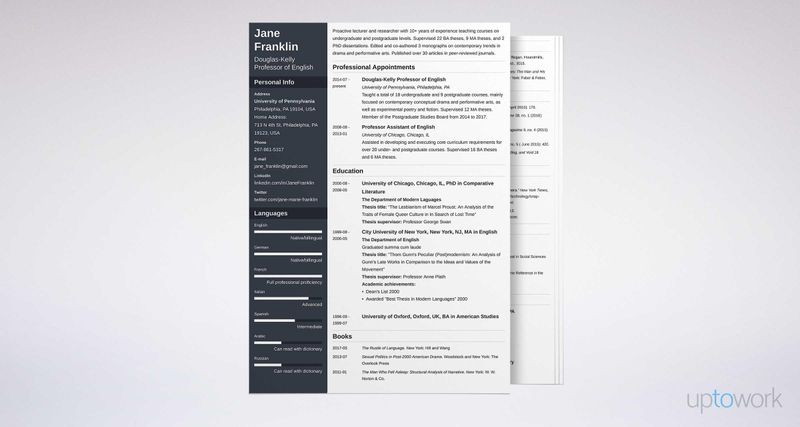 Academic CV Writing Guide