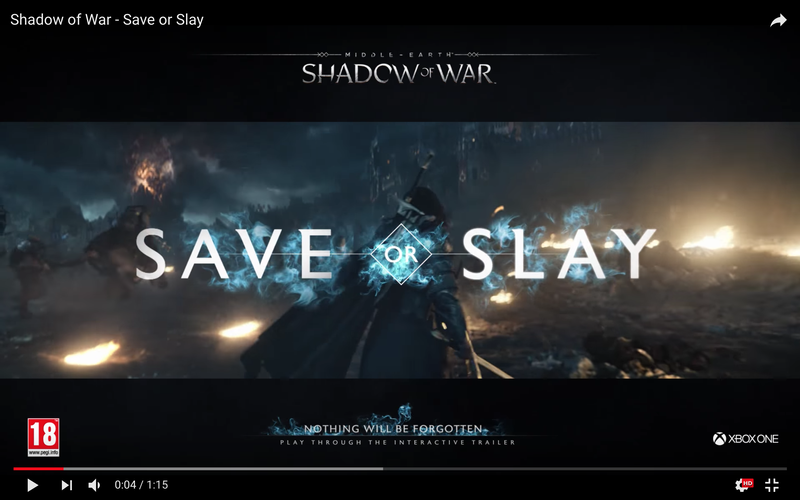 Shadow of War- Save or Slay