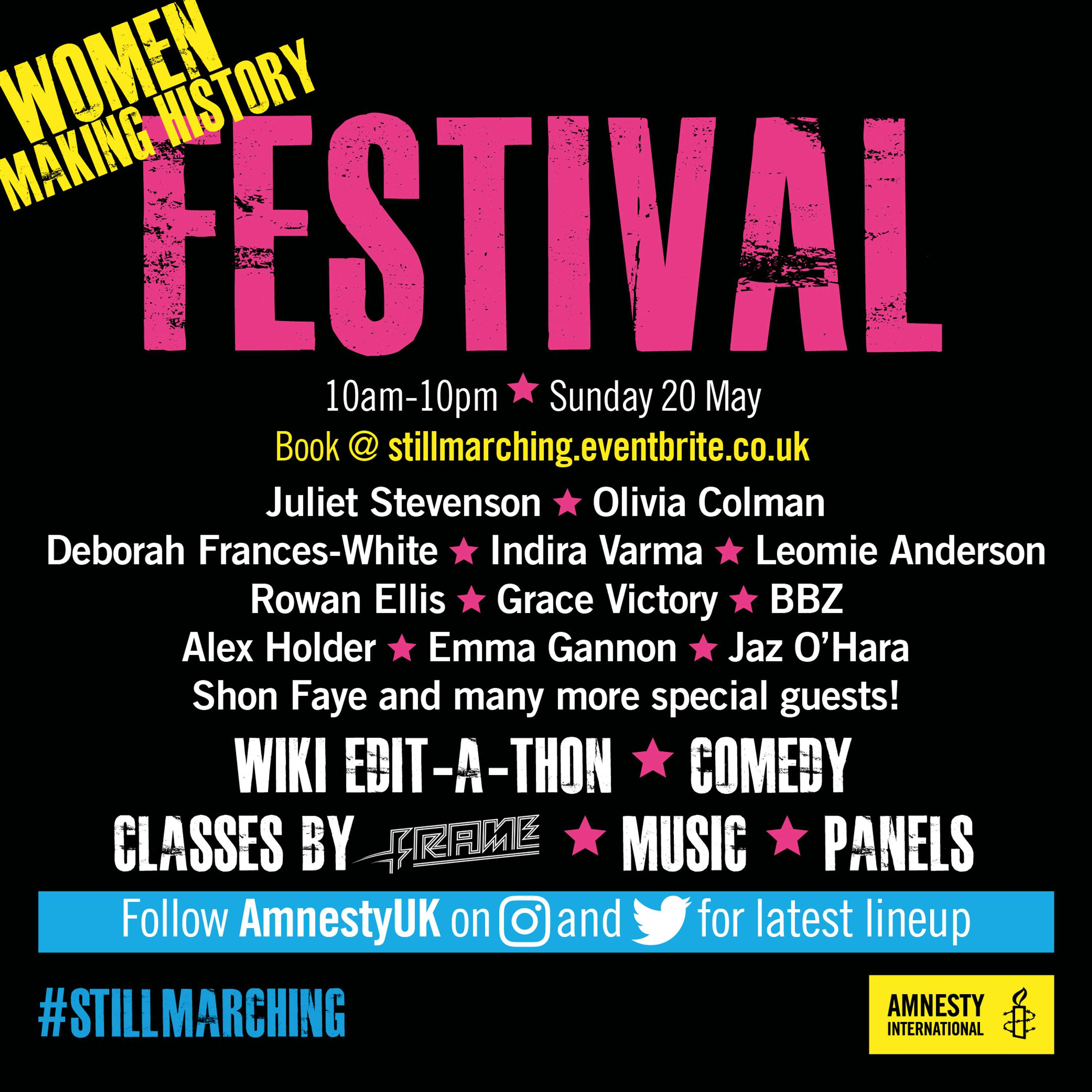 event women making history stillmarching 20th may tickets here