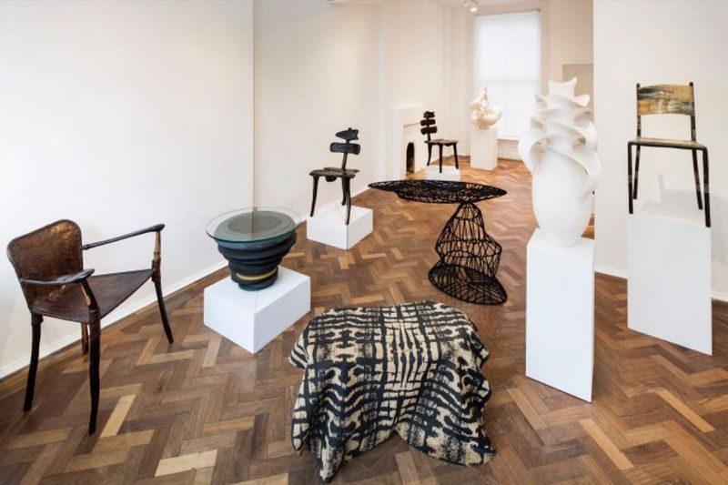 EXHIBITION: AMWA Designs Asanka Coffee Table + Kete Pa Suede Throw. 'From Dakar To London: Anatomies, Design And Objects', 50 Golborne, London, May 2018