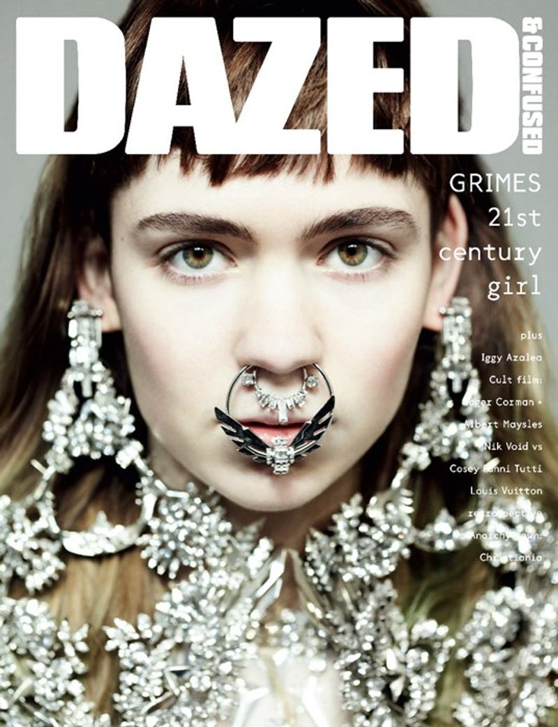 Grimes cover story for Dazed & Confused