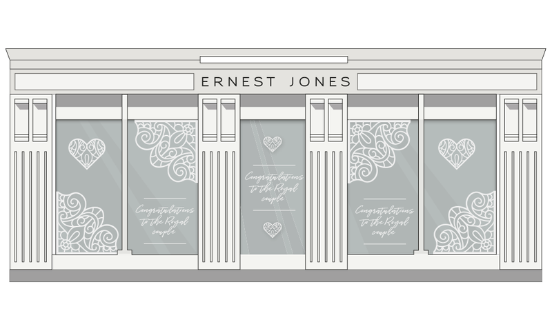Ernest Jones Royal Wedding - Window Display
