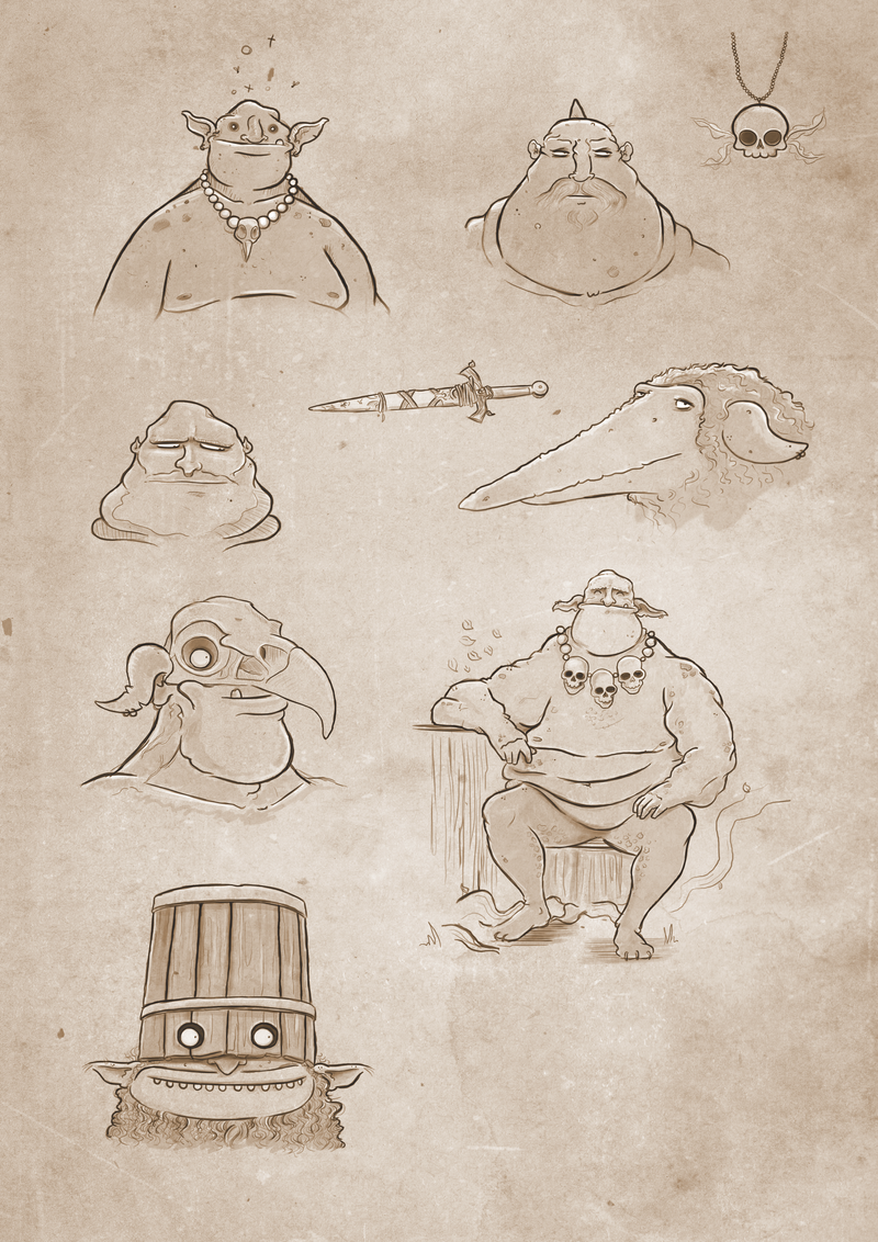 Troll concept sketches