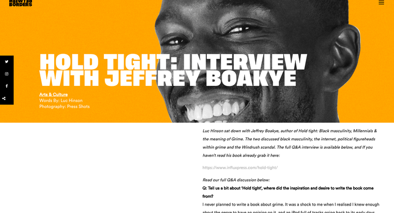 Interview with Jeffrey Boakye for Between Borders