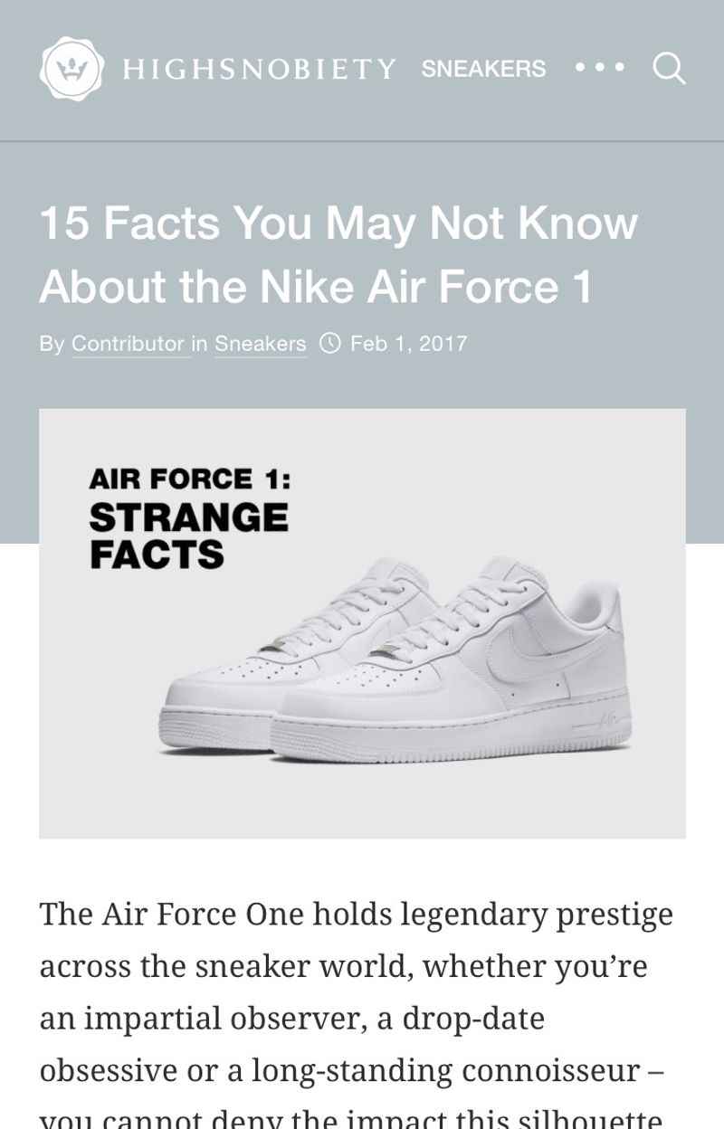 size 40 ad858 83db1 15 Facts You May Not Know About the Nike Air Force 1