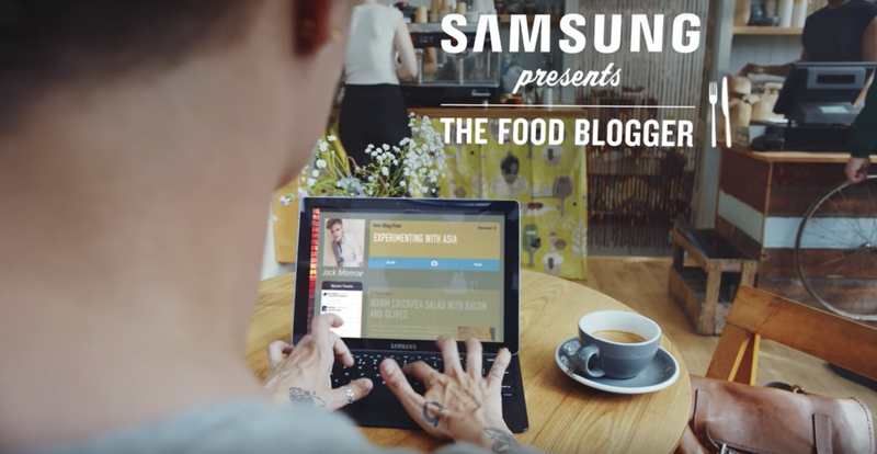 Samsung / the food blogger