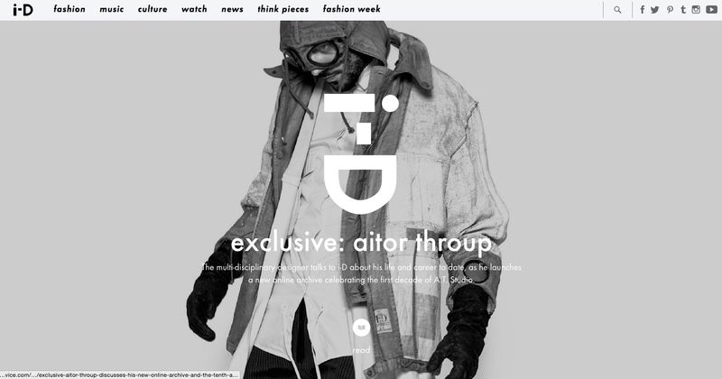i-D: Aitor Throup Interview