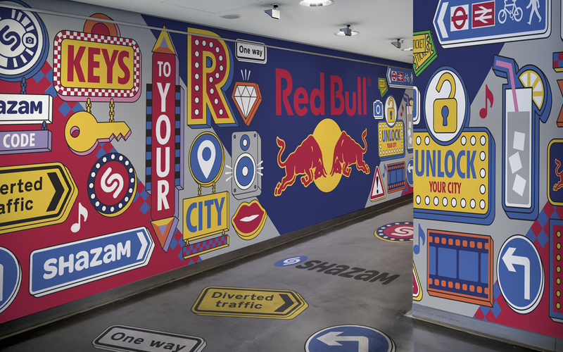 Red Bull Promotional Concepts, Event Graphics and Animation
