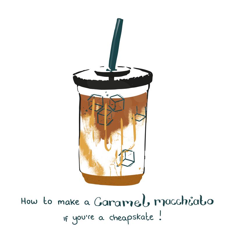 How to make a Caramel Macchiato, if you're a cheapskate!