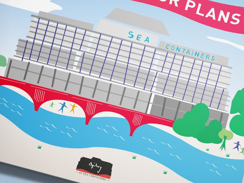 Floorplans Booklet and Posters for Ogilvy's move to Sea Containers