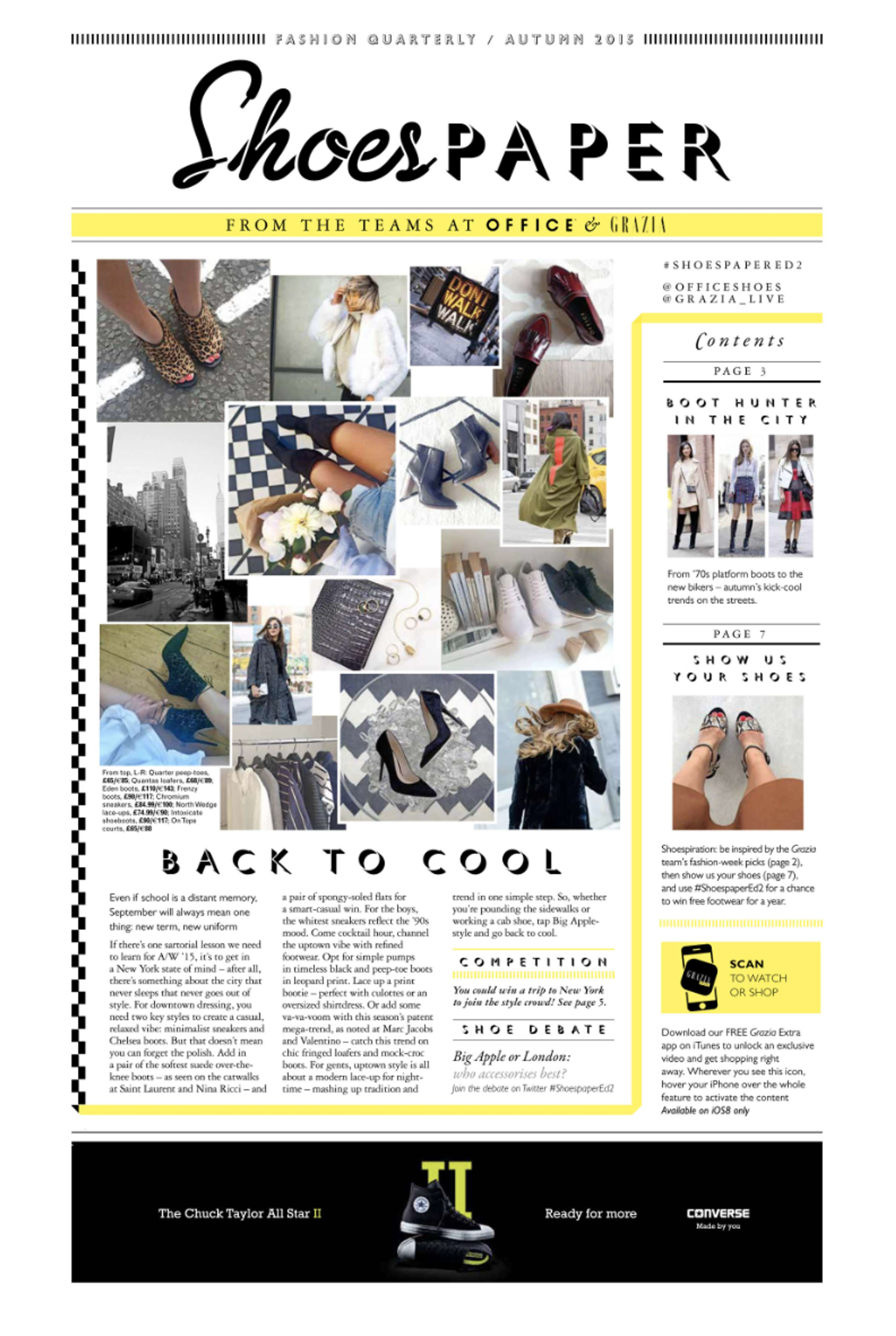 Shoespaper Grazia Office Shoes Collaboration The Dots