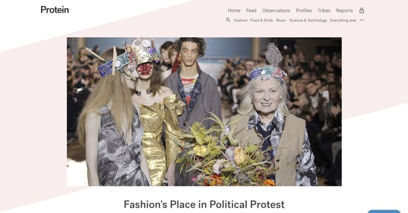 Protein: Fashion's Place In Political Protest