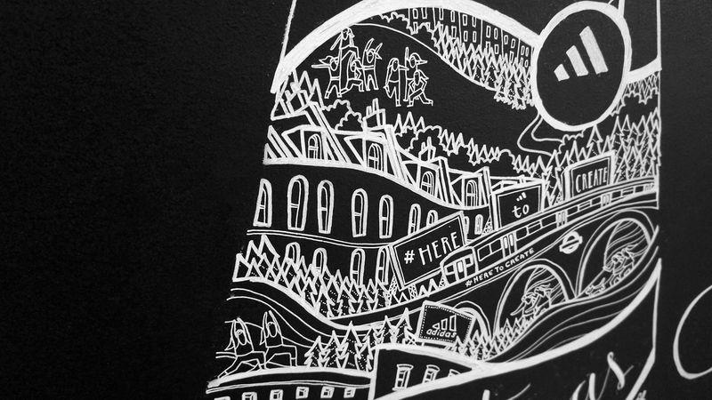 Adidas LDN Studio Xmas Mural