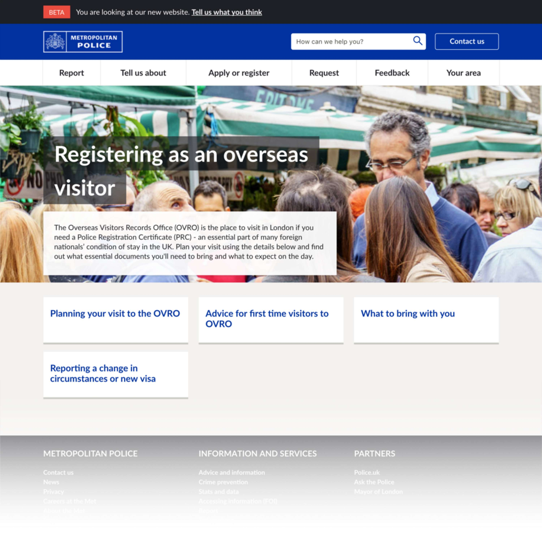 London Metropolitan Police   Digital Transformation   The Dots