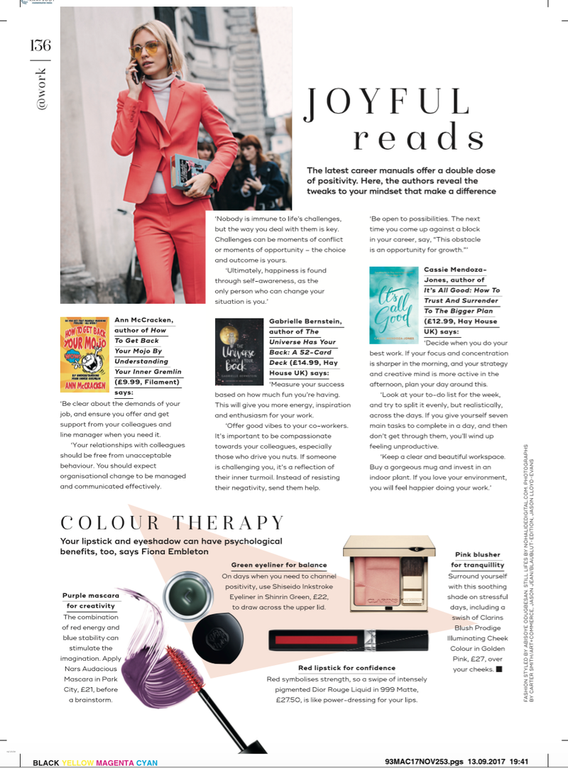 Joyful Reads Feature - Marie Claire Print October edition 2017