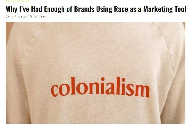 Guap Magazine Opinion Piece: Why I've Had Enough of Brands Using Race As a Marketing Tool