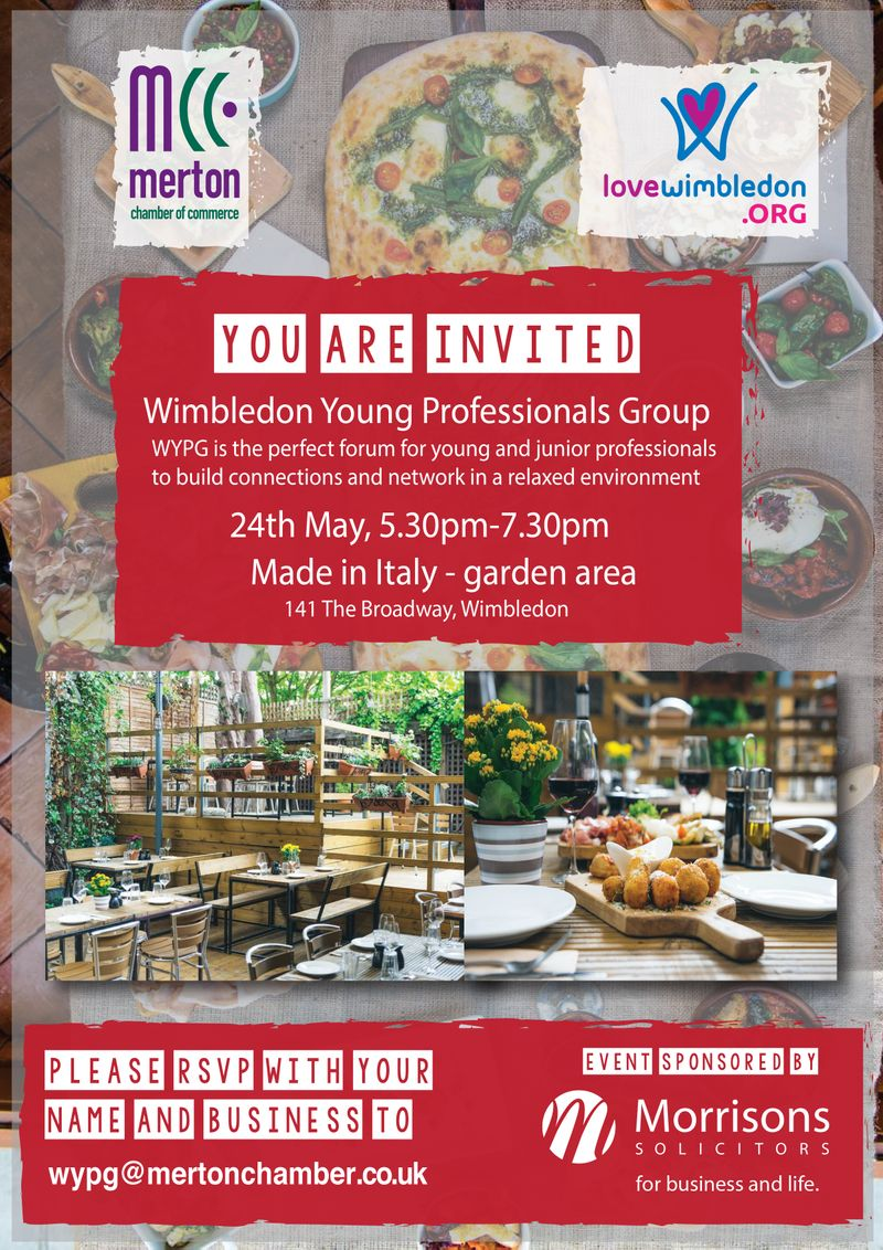 Wimbledon Young Professionals Group event flyer