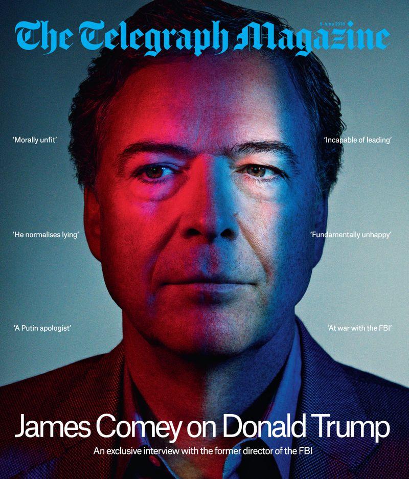 James Comey x Telegraph Magazine x Pari Dukovic
