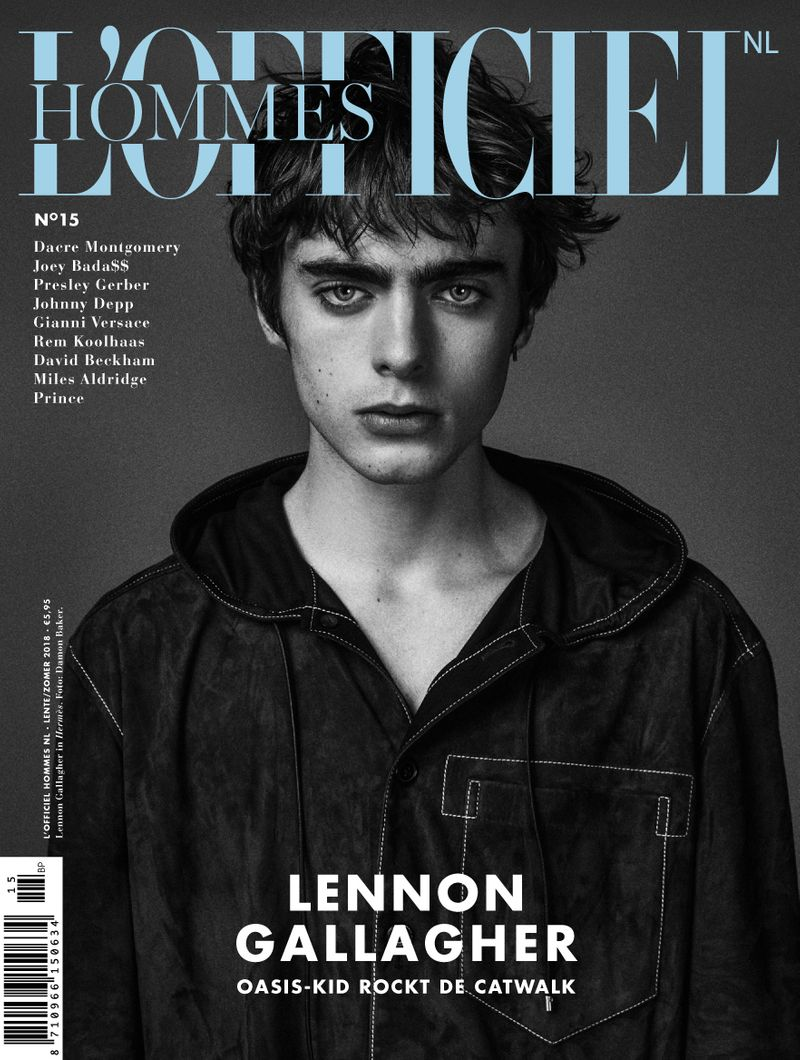 L'OFFICIEL HOMMES NL FEATURING LENNON GALLAGHER