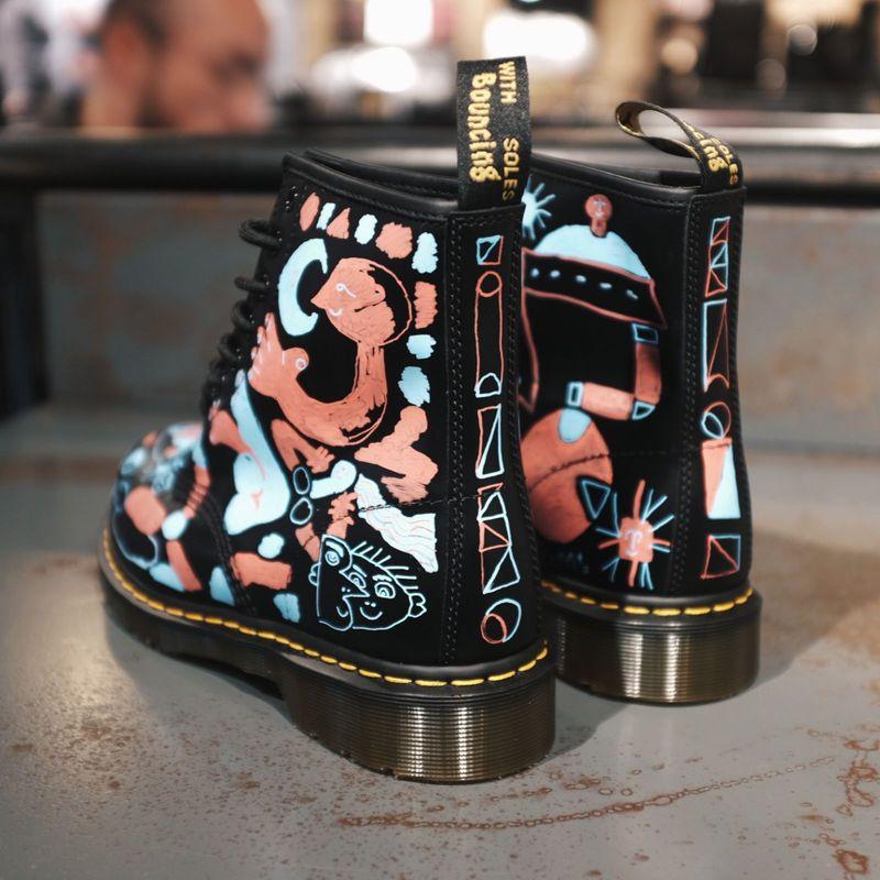 Boot customisation at Dr Martens
