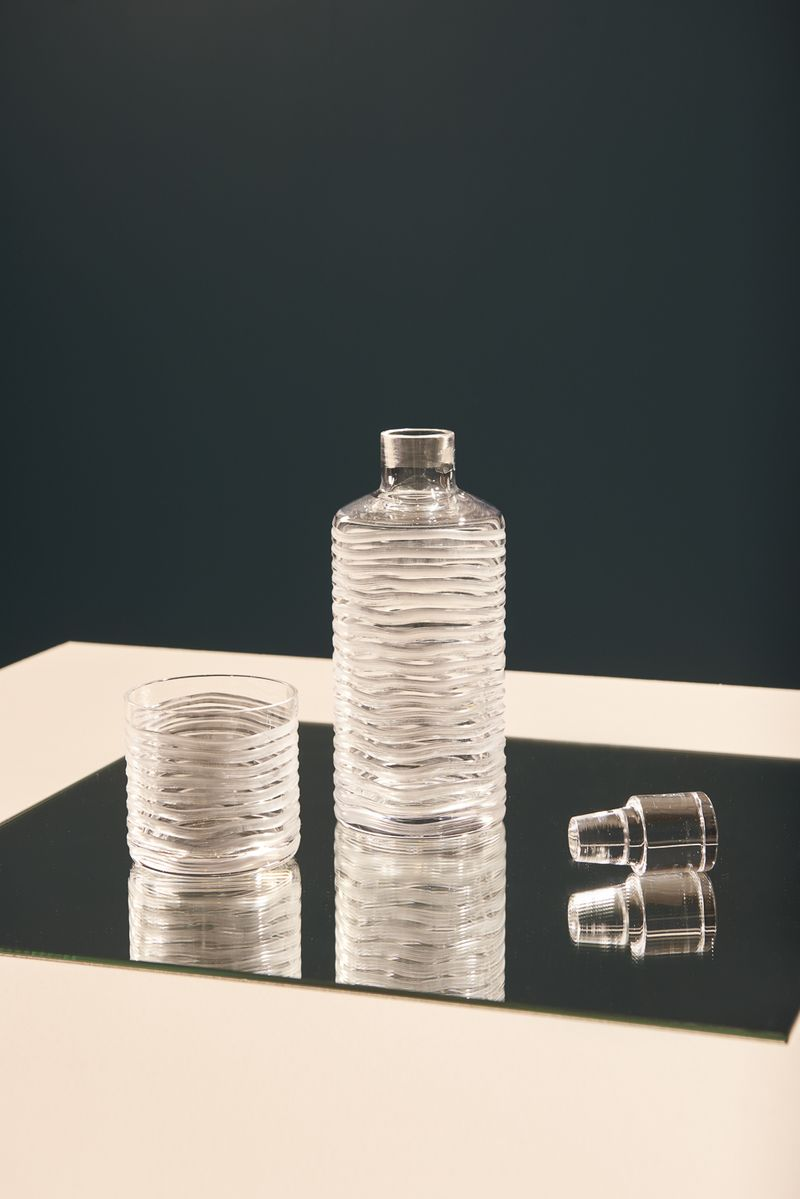 Well Crystal Carafe and Tumbler for Wallpaper* Handmade