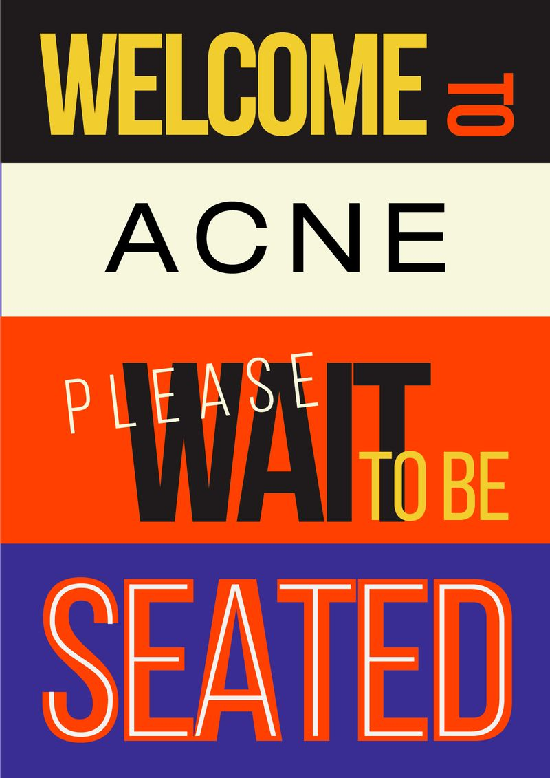 Sign/ Poster for Acne
