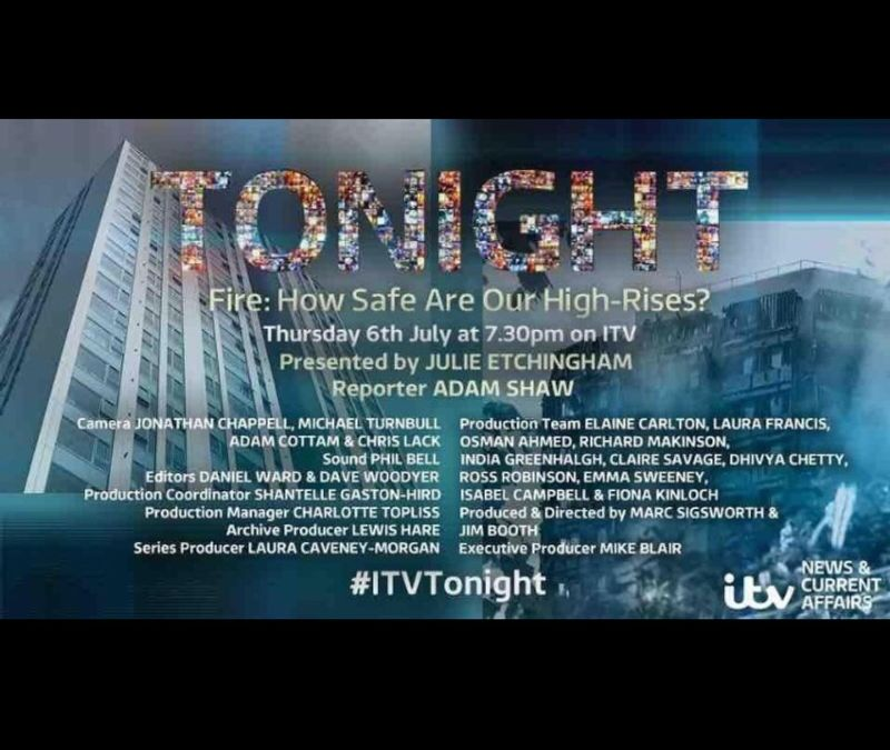 Tonight Programme 'Fire: How sage are our high-rises?'