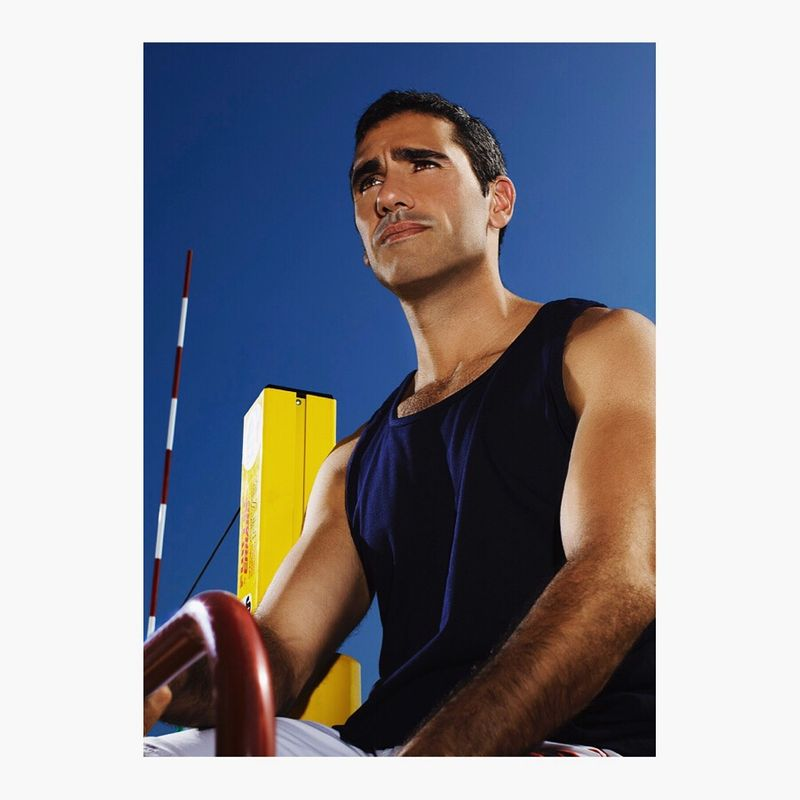 Highly stylised portraits of volleyball players at a charity event-make them look heroic.