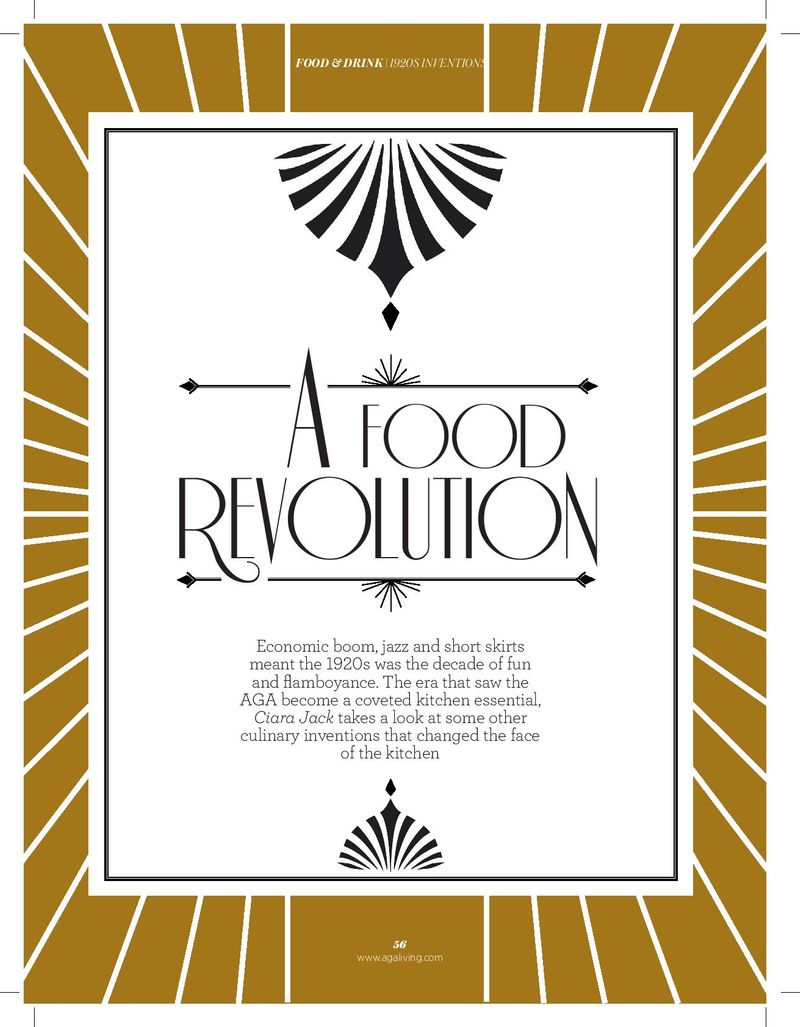 AGA Living, 95th Anniversary food feature