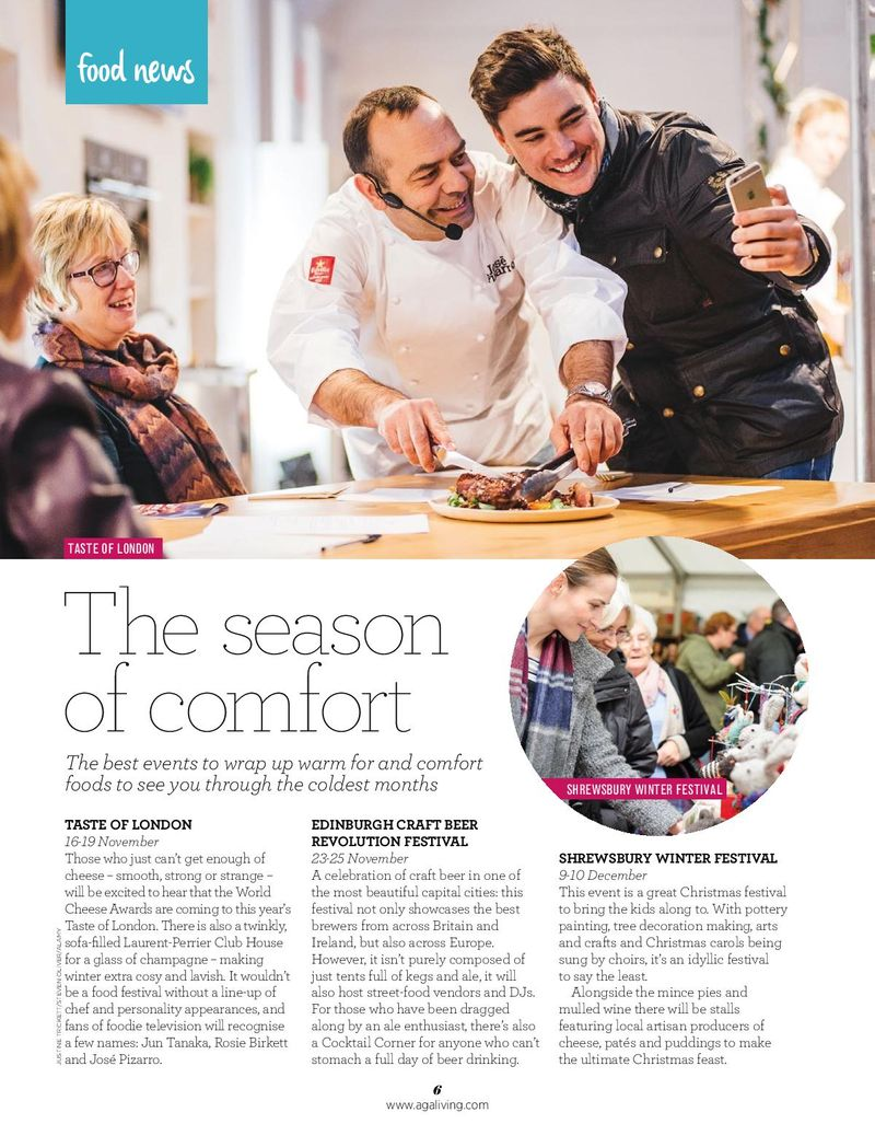 AGA Living, Food News: Winter
