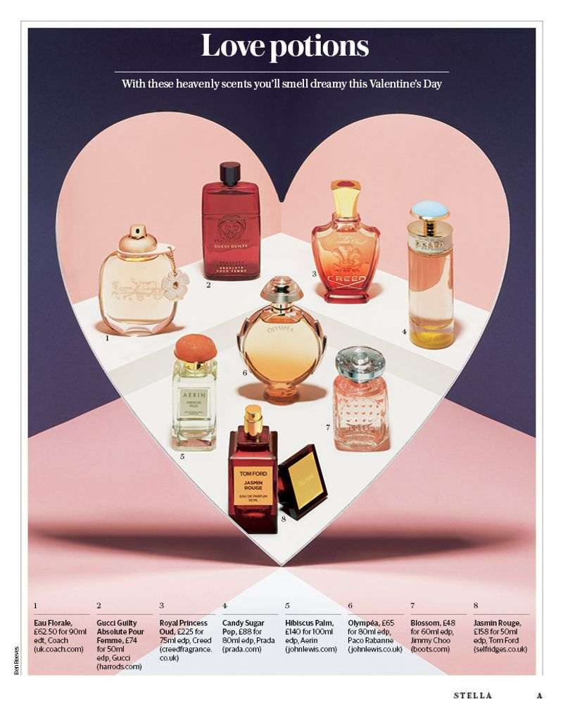 Fragrance shoot by Ben Reeves for Stella Magazine / Telegraph Media Group