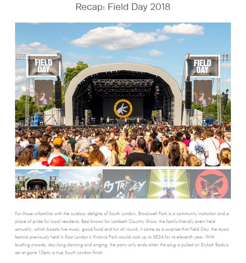Live Recap: Field Day 2018 for Wordplay Magazine Online