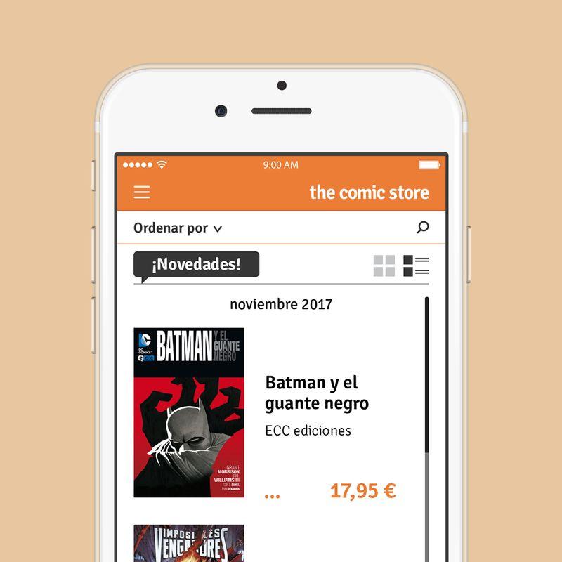 The Comic Store - UI design
