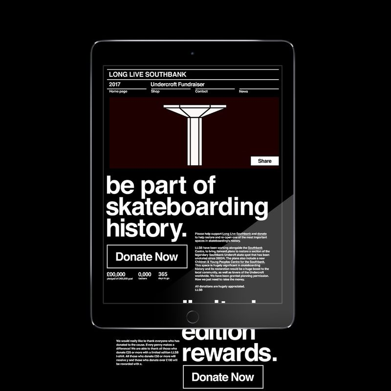 LONG LIVE SOUTHBANK / Graphic Design / Web Design / 2018