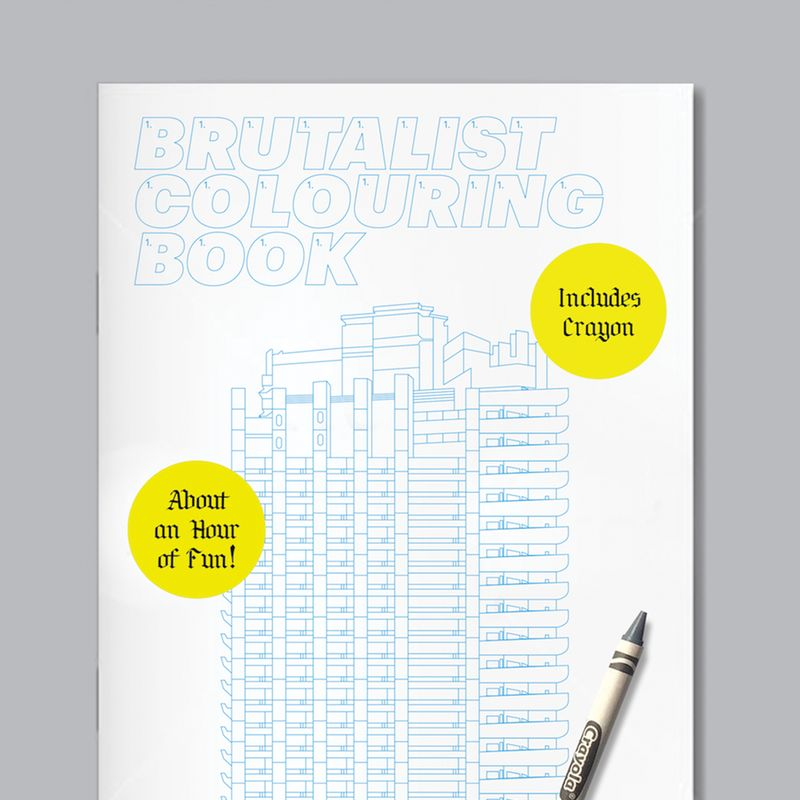 Brutalist Colouring Book / Print / Crayon / 2018