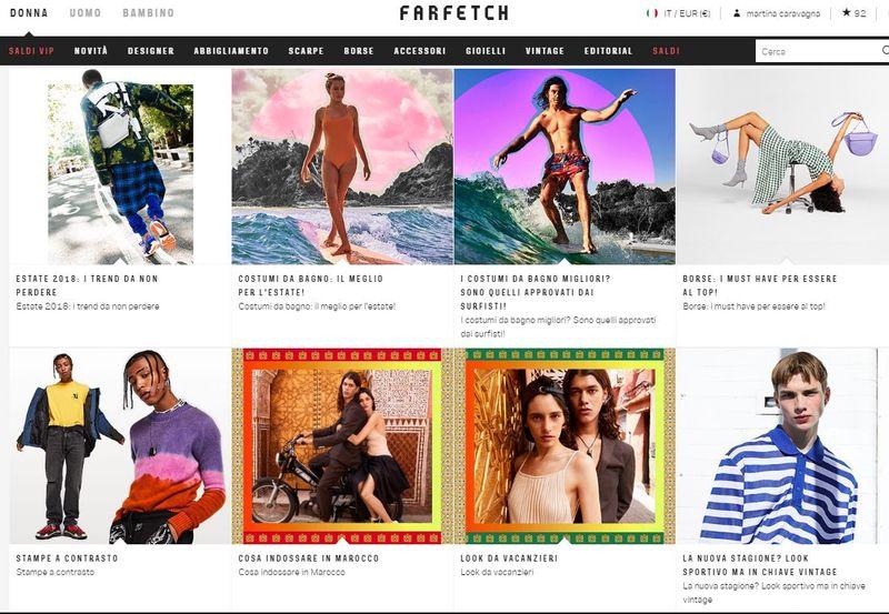 Farfetch website launch - editorials