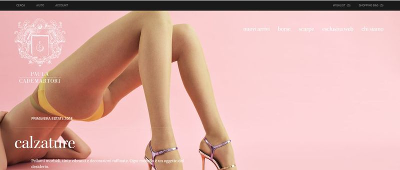 Fashion luxury website launch
